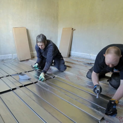 """""""Should we move or improve?"""" Underfloor heating is a popular option – it gives their property an added wow factor and a slice of affordable luxury."""