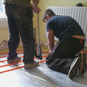 Underfloor heating and radiators