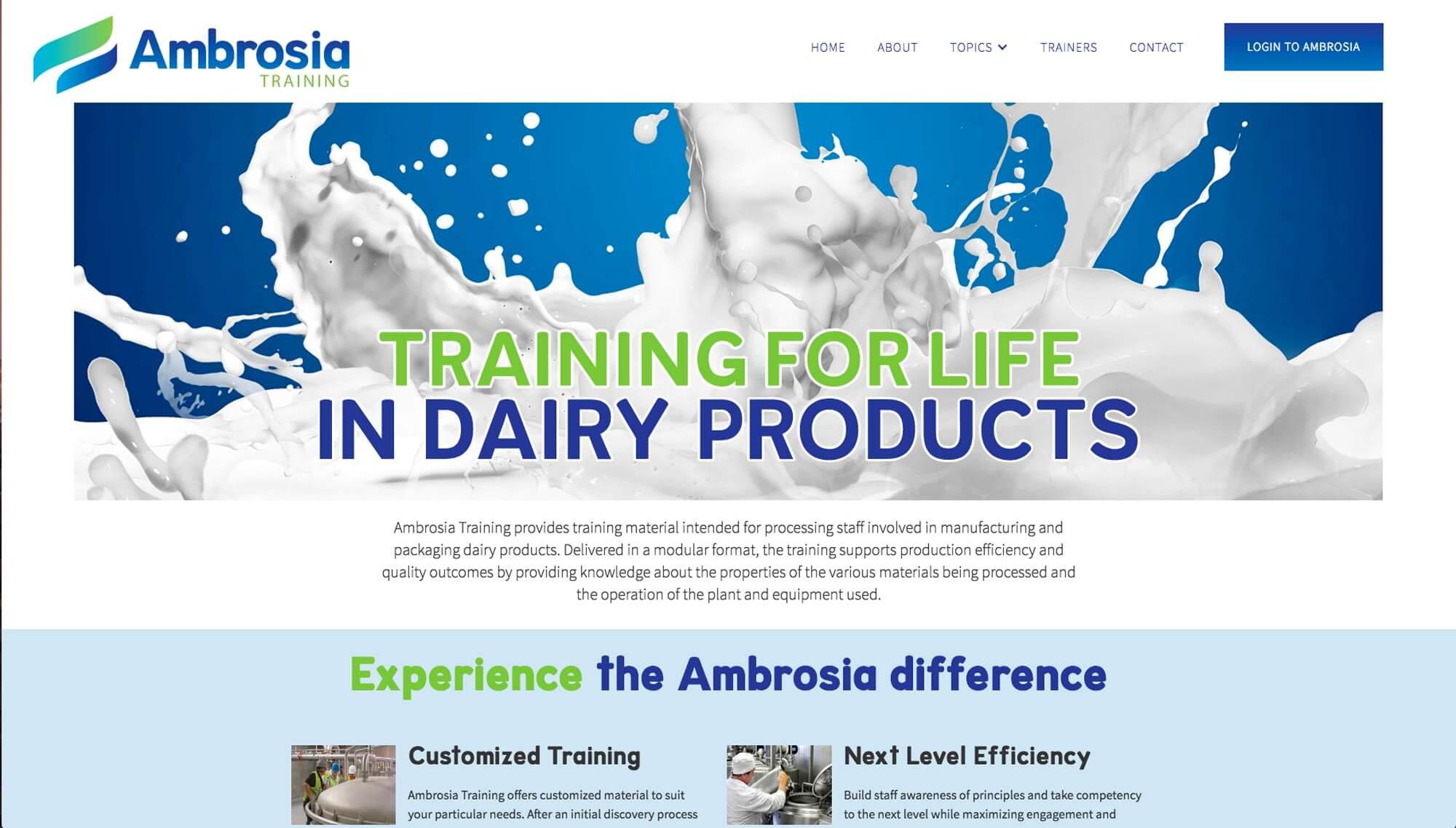 Ambrosia home page