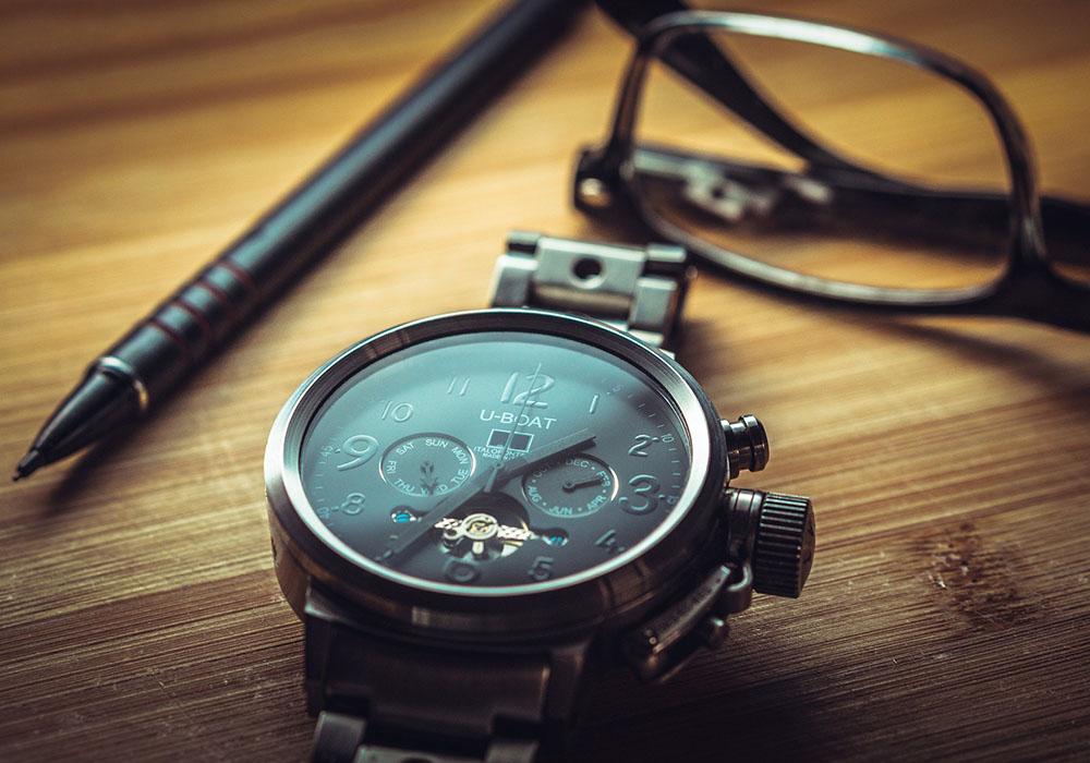 watch on a desk
