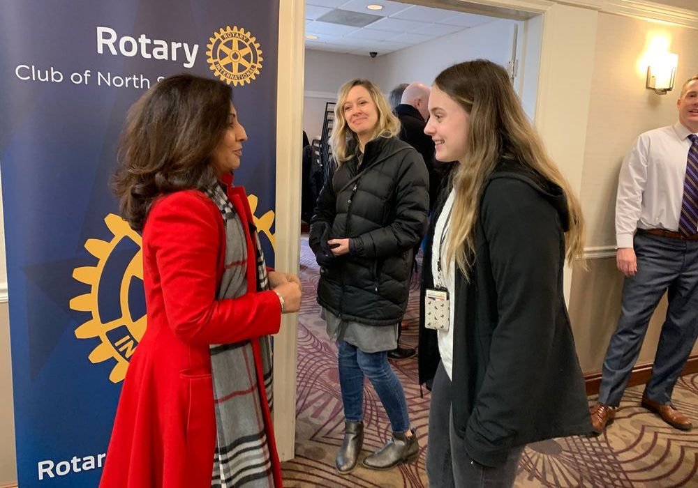 Gabriella van Rij at the Rotary Club