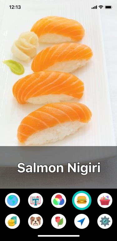 Image of the app identifying Salmon Nigiri, a type of sushi.