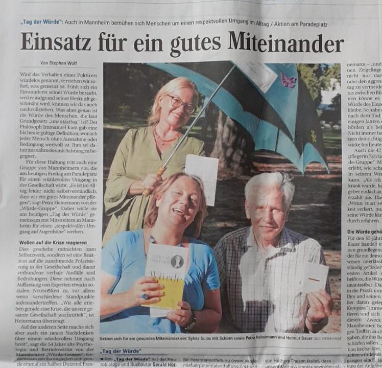 Tag der Würde in Mannheim