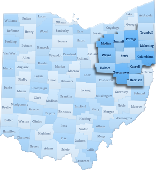 state of ohio and primetime area highlighted