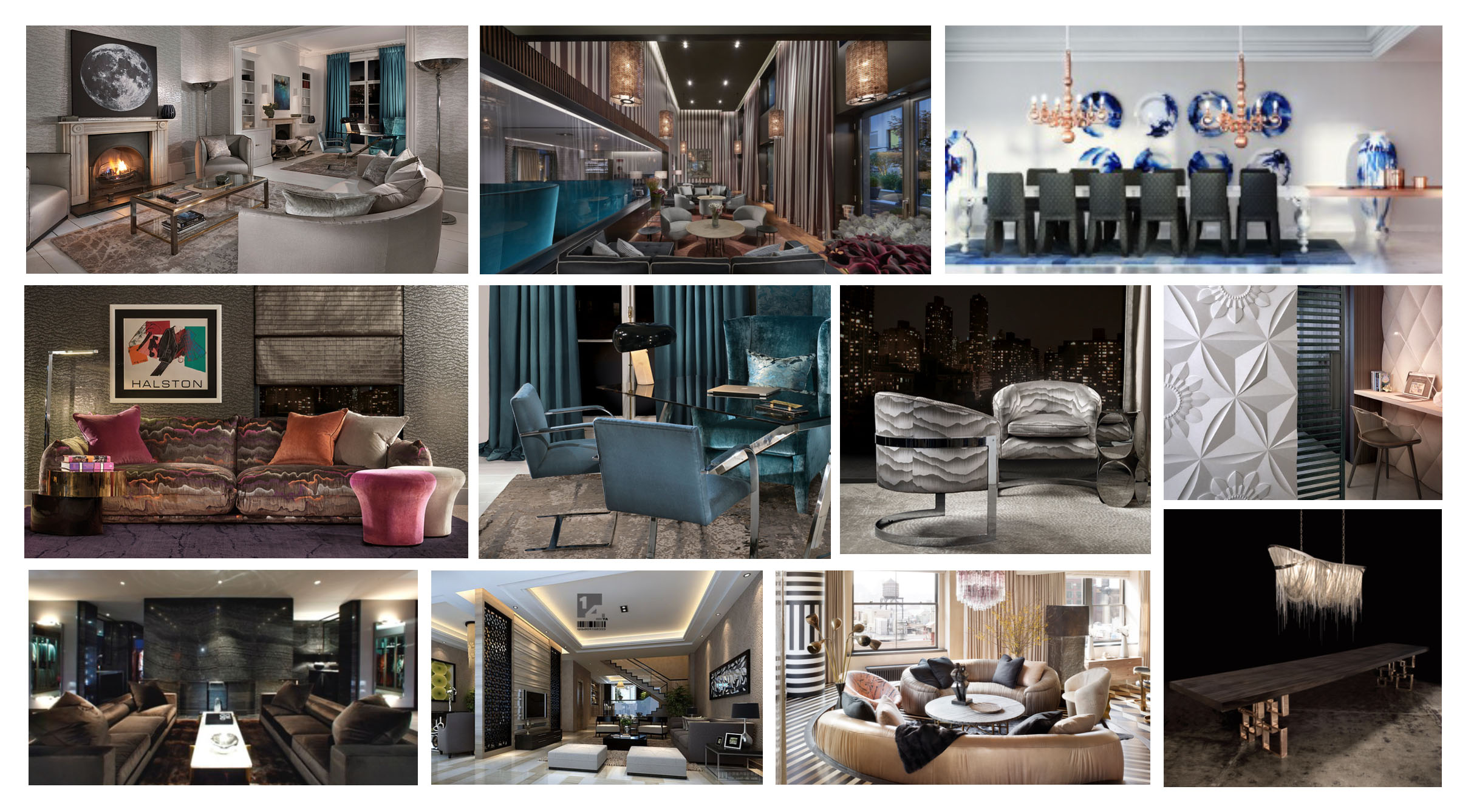 """Ozzykdesigns  - The concept and visual aesthetics are formed with digital boards (visual inspiration of aesthetic), and sketches to create a """"sense"""" of design elements within the spaces."""