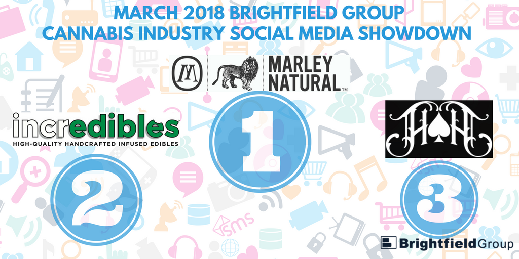 brightfield group graphic of first second and third social media winners