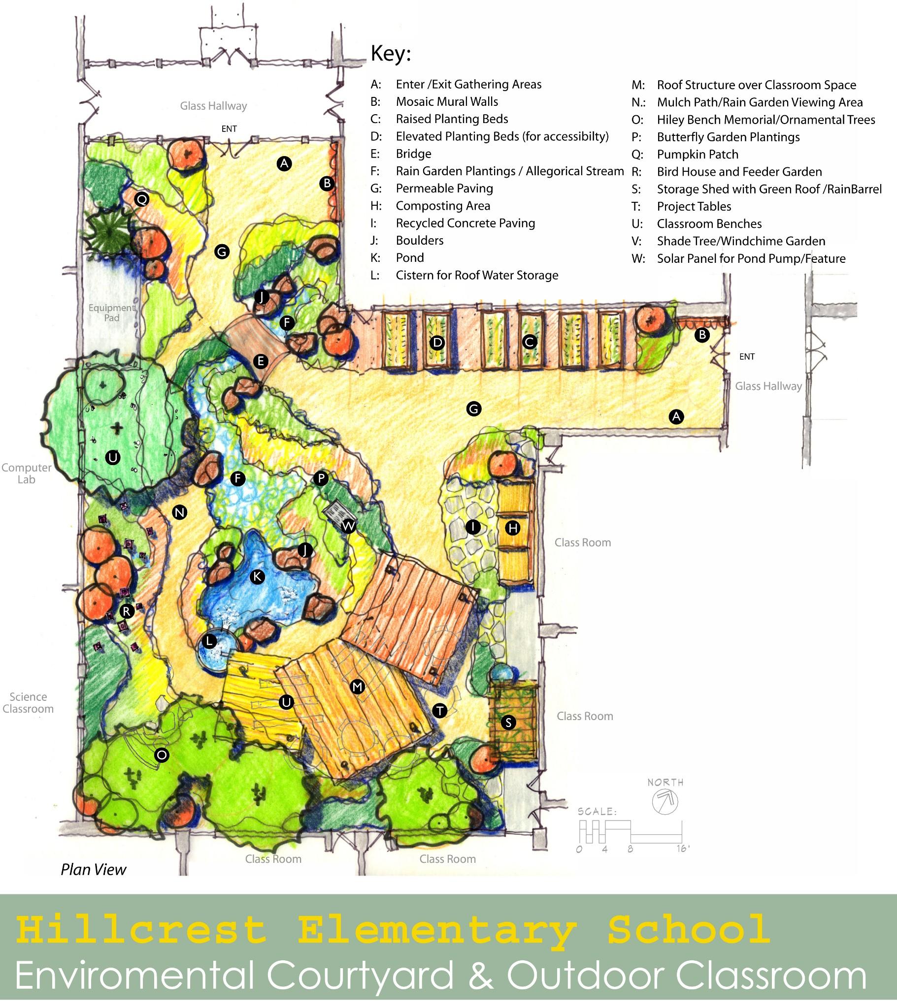 Hillcrest Elementary Courtyard