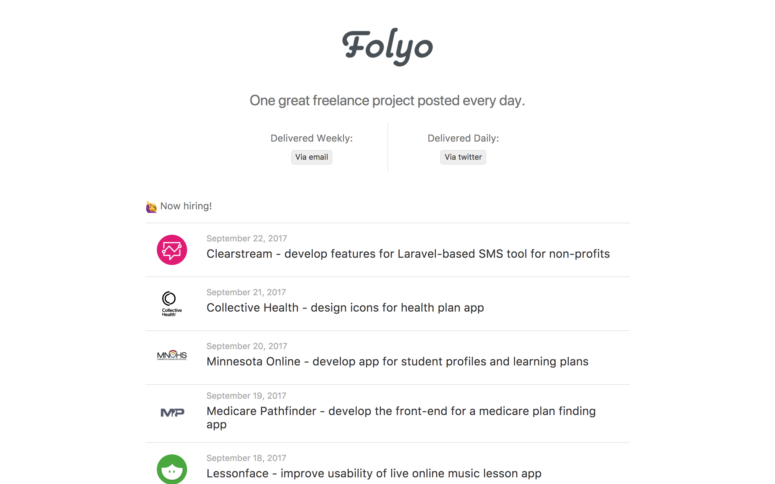 Folyo Website