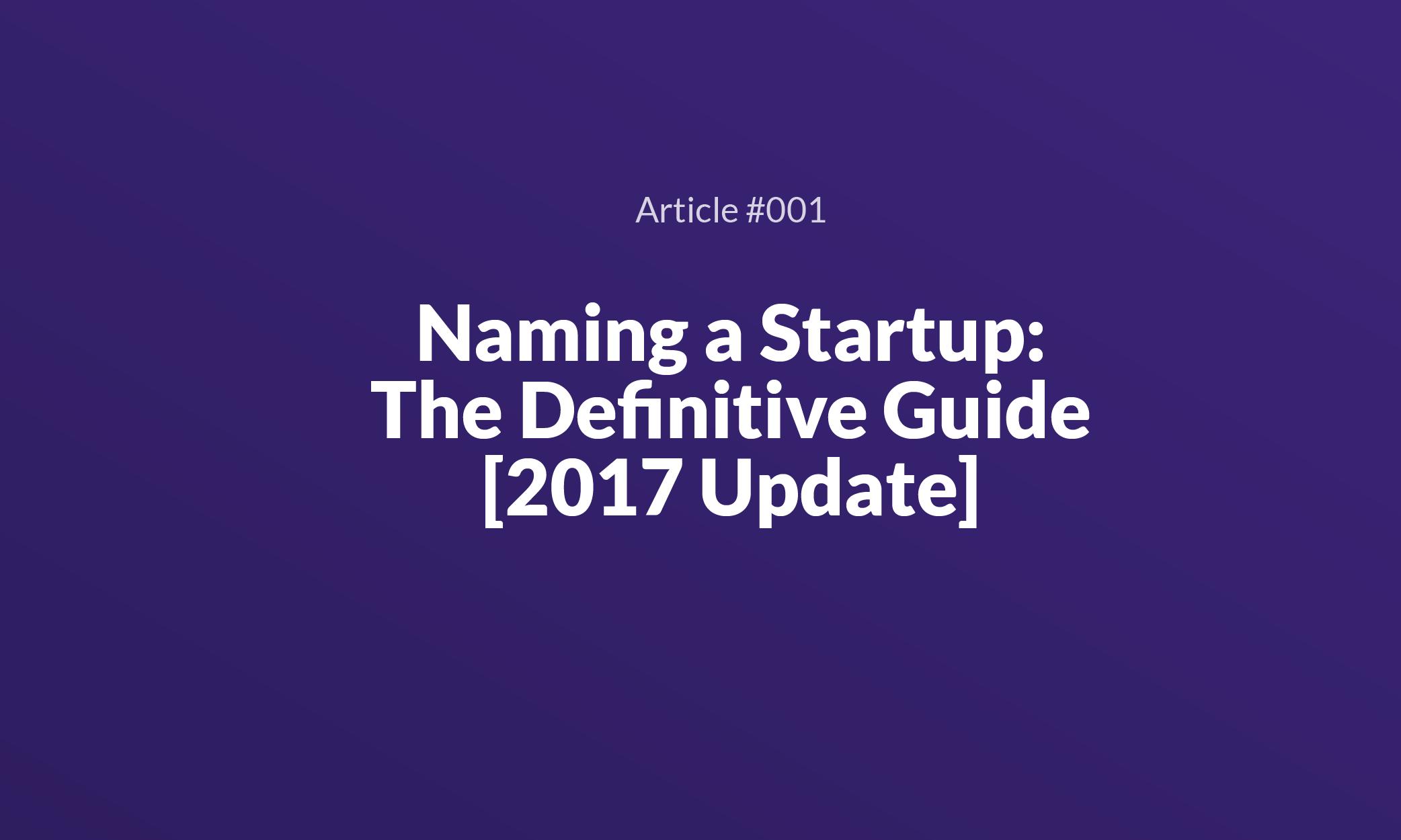 Name Startup