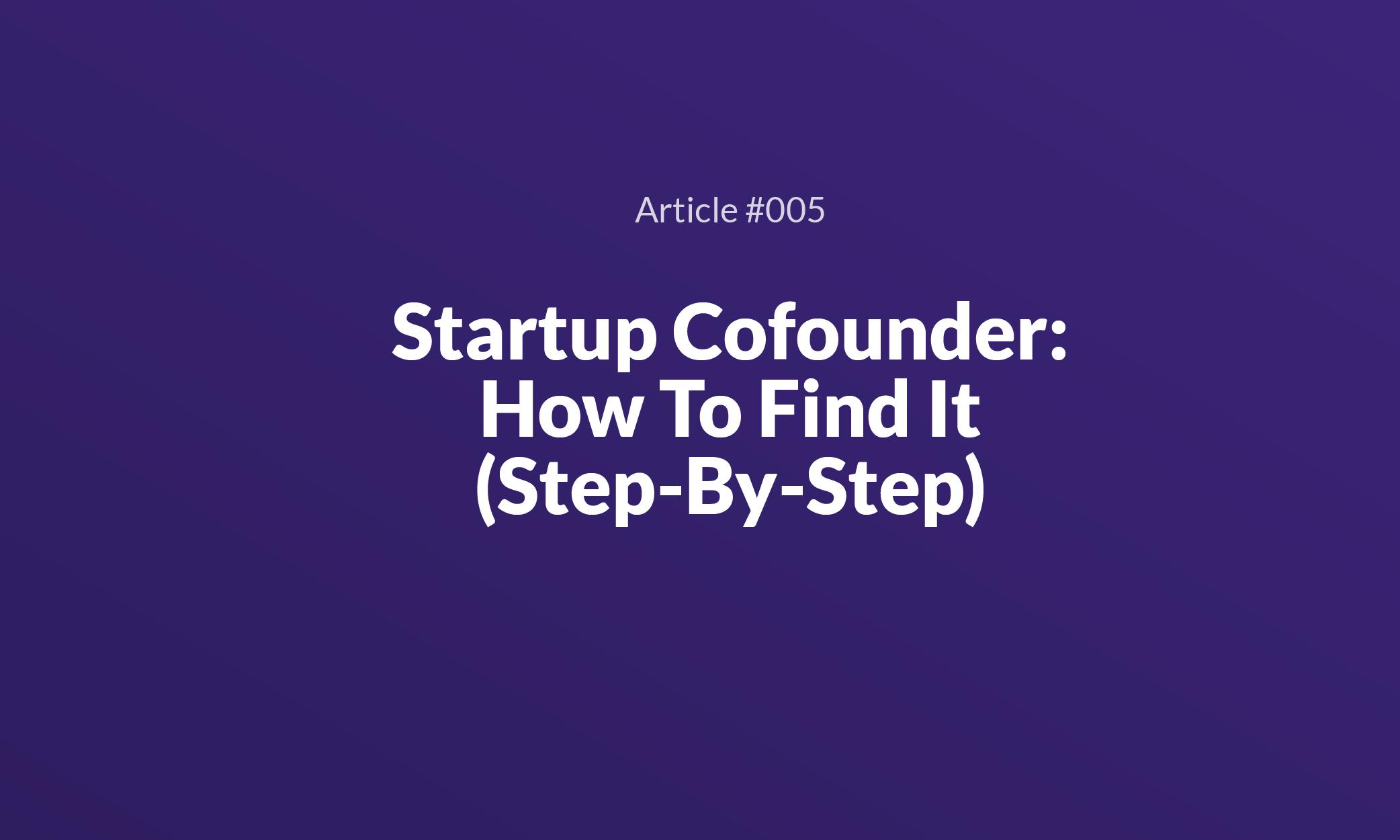 Startup Cofounder