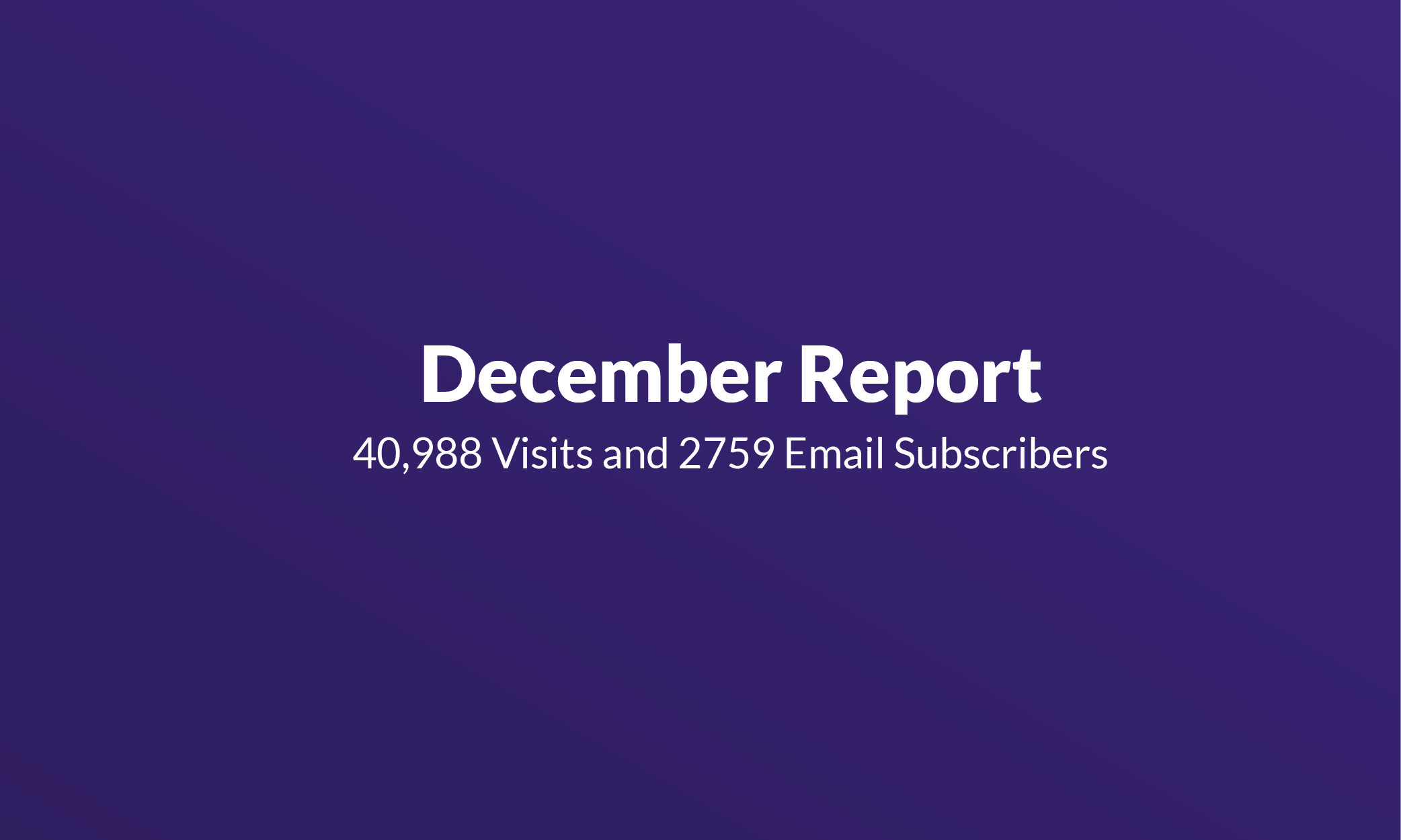 Failory December Report