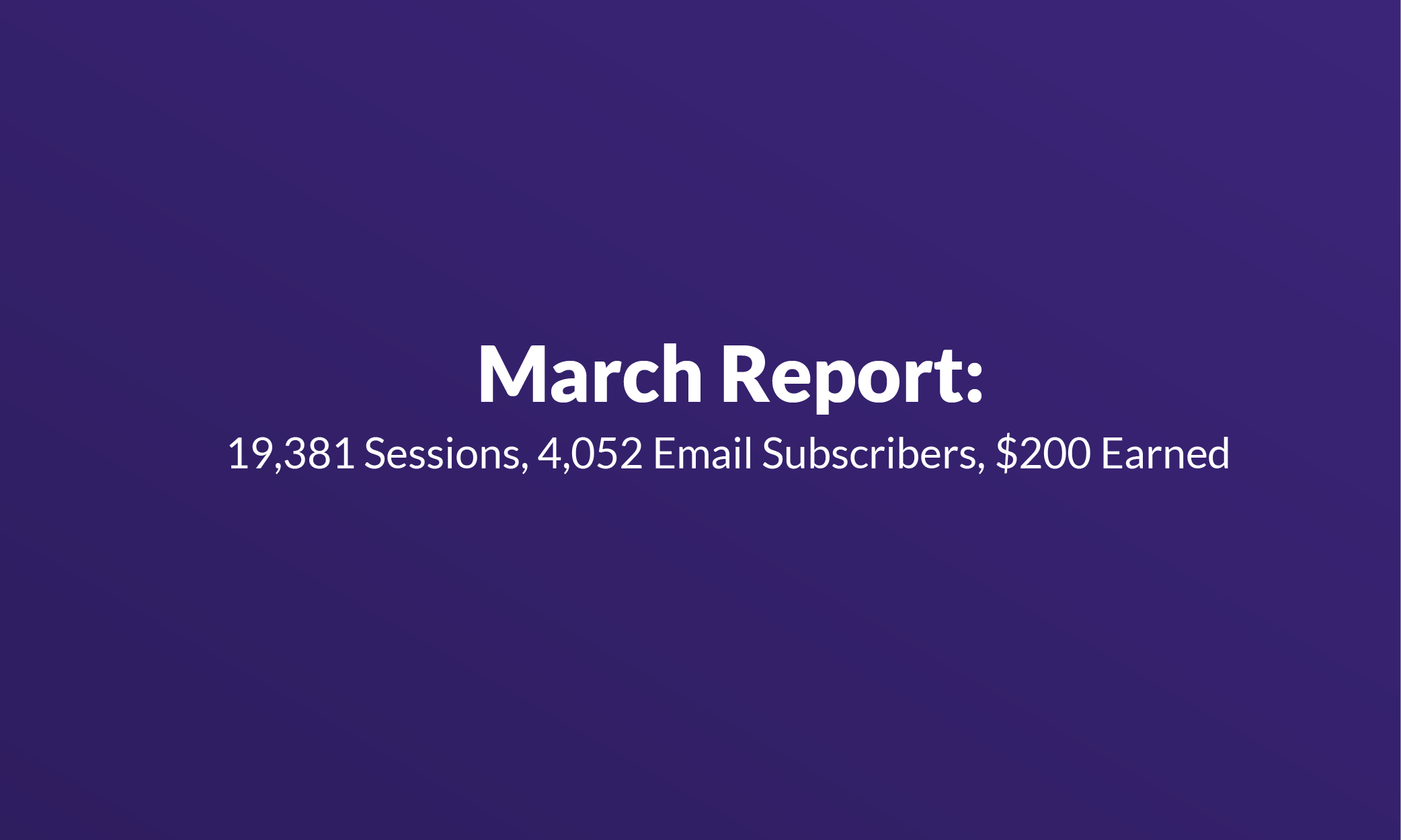 Failory March Report