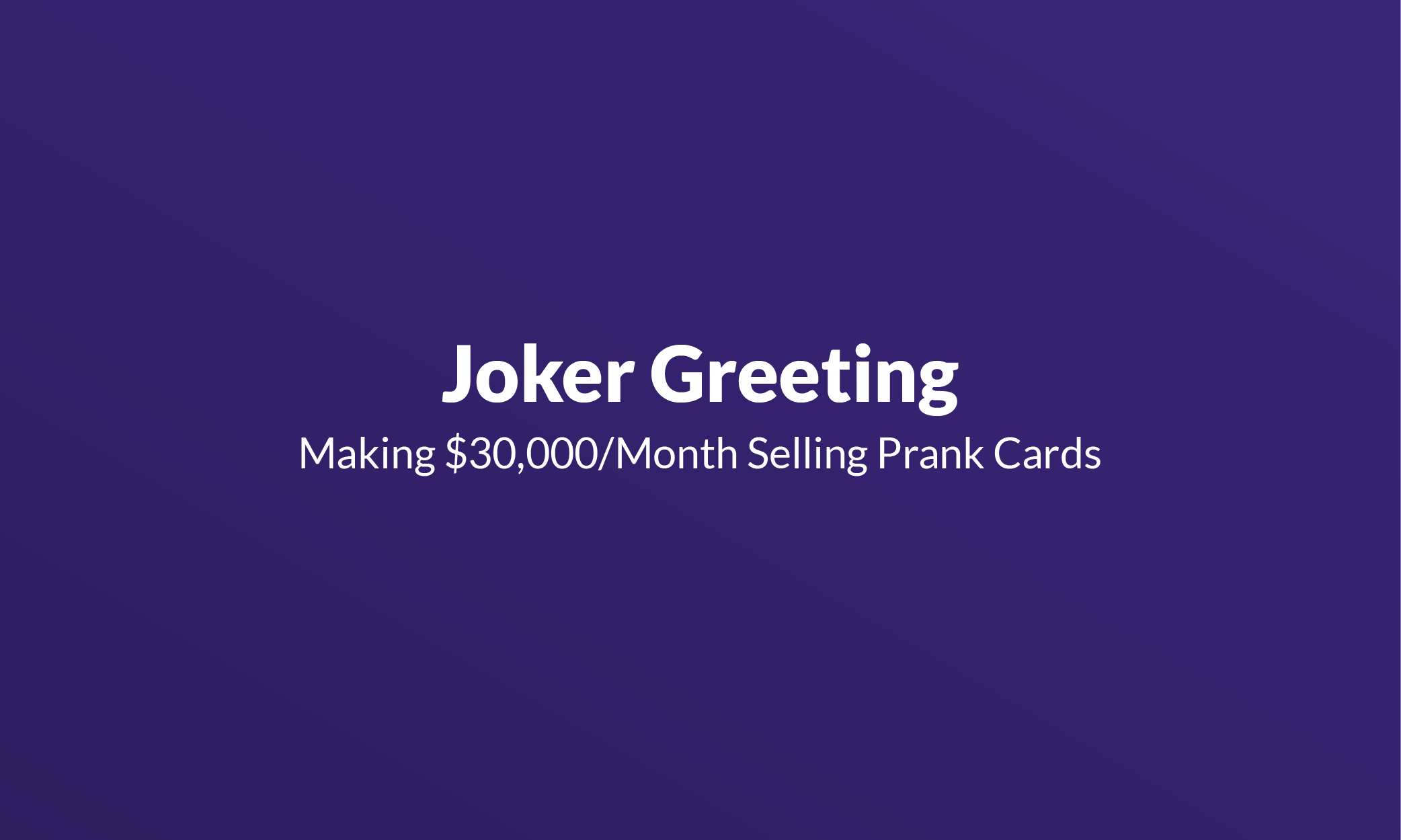 Joker Greeting - Mistakes