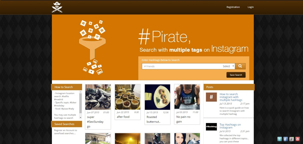 Hashtag Pirate Website