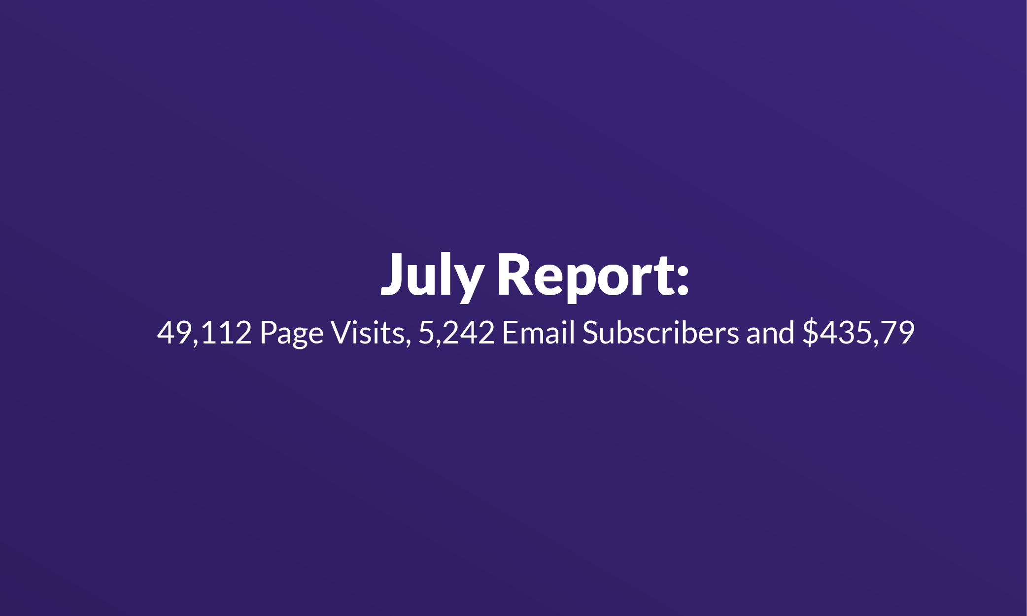 Failory July Report