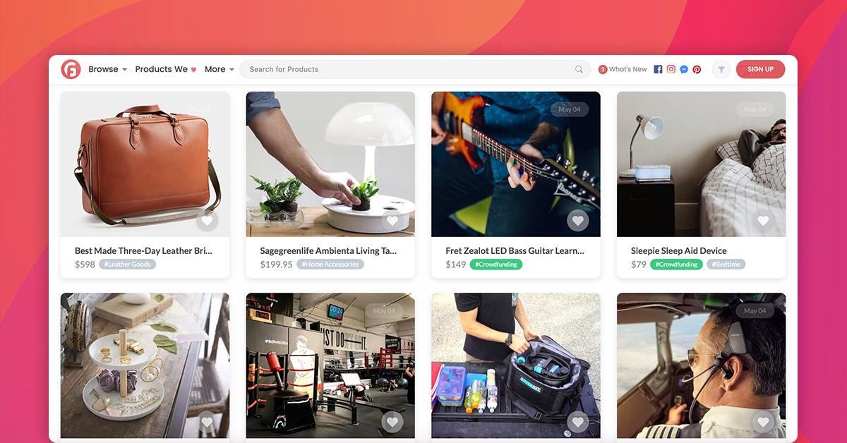 Gadget Flow Homepage