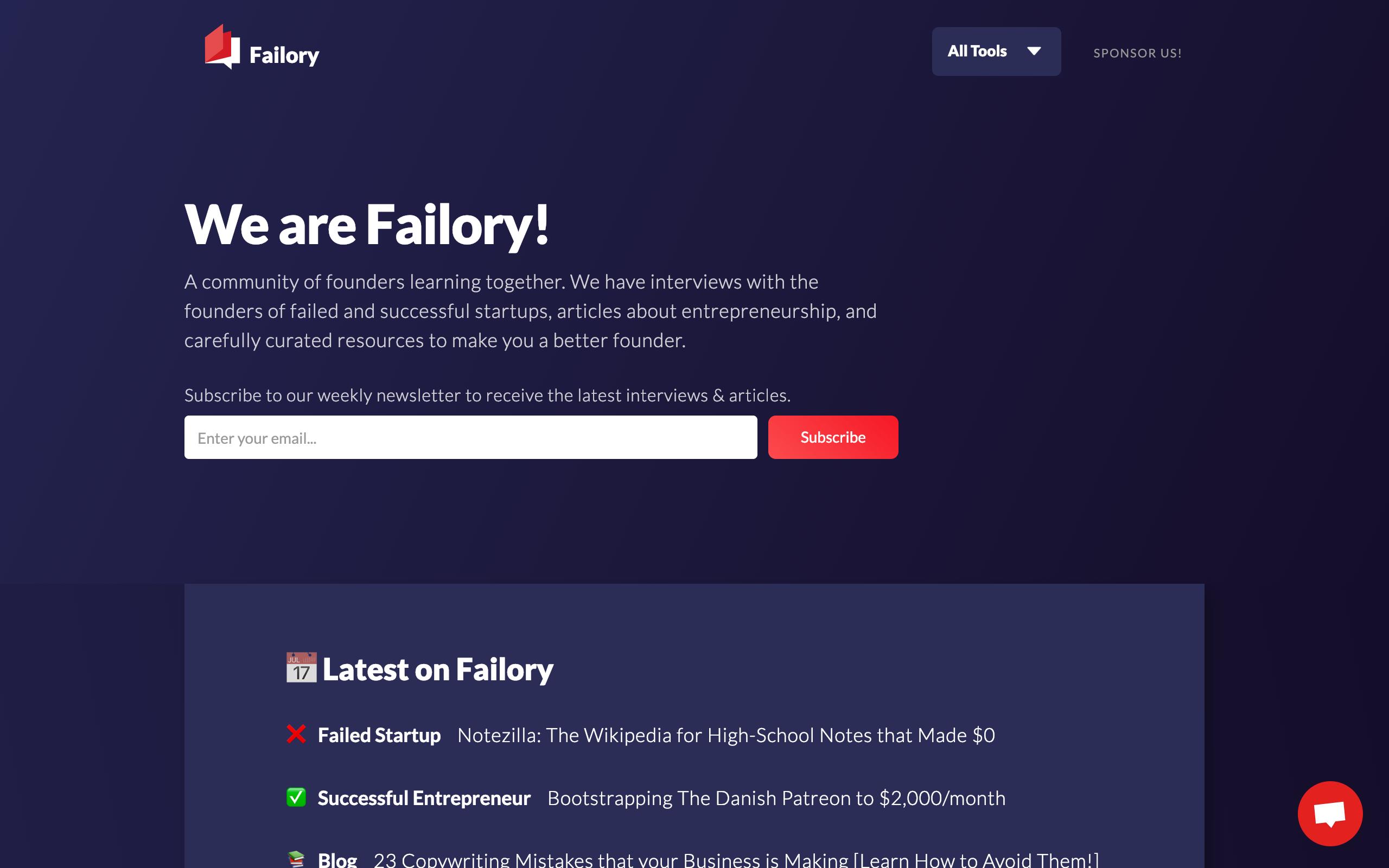 Failory Re-design December 2018