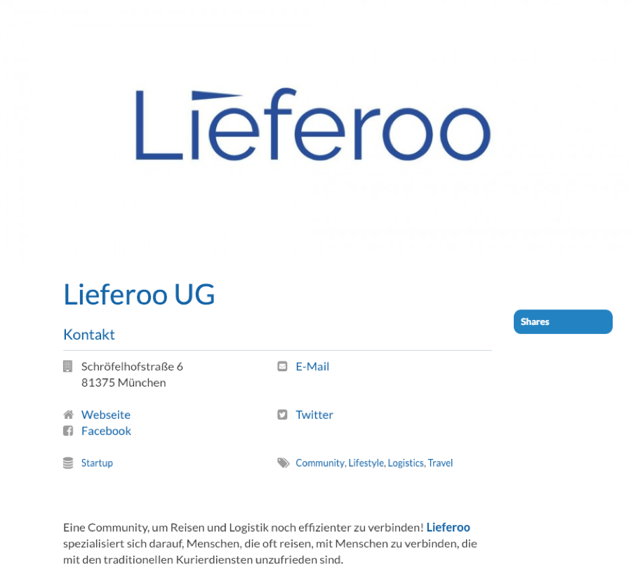Lieferoo Business Card