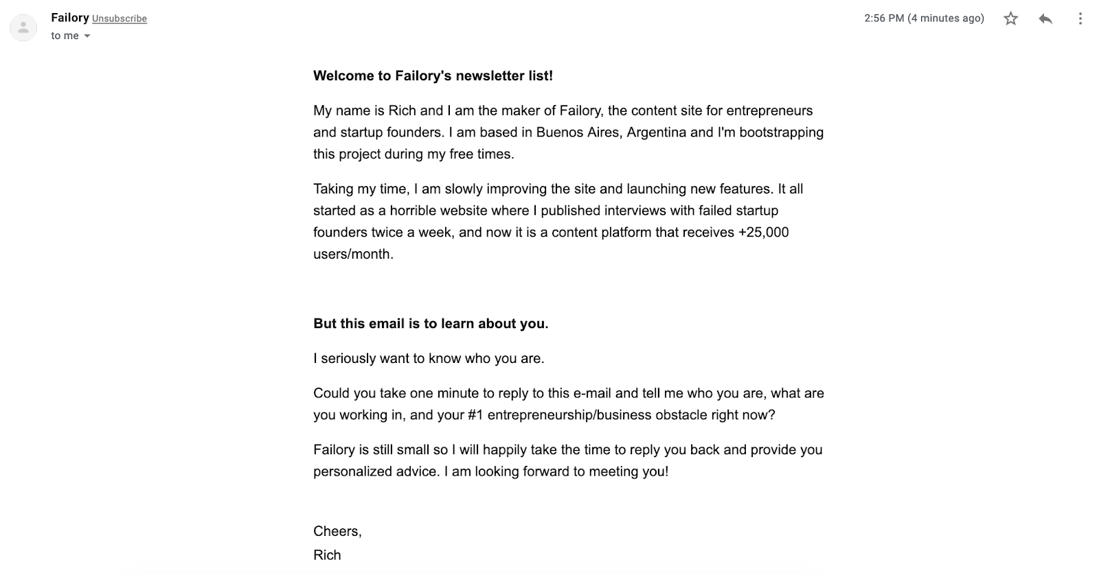 February 2019 - You are In Email