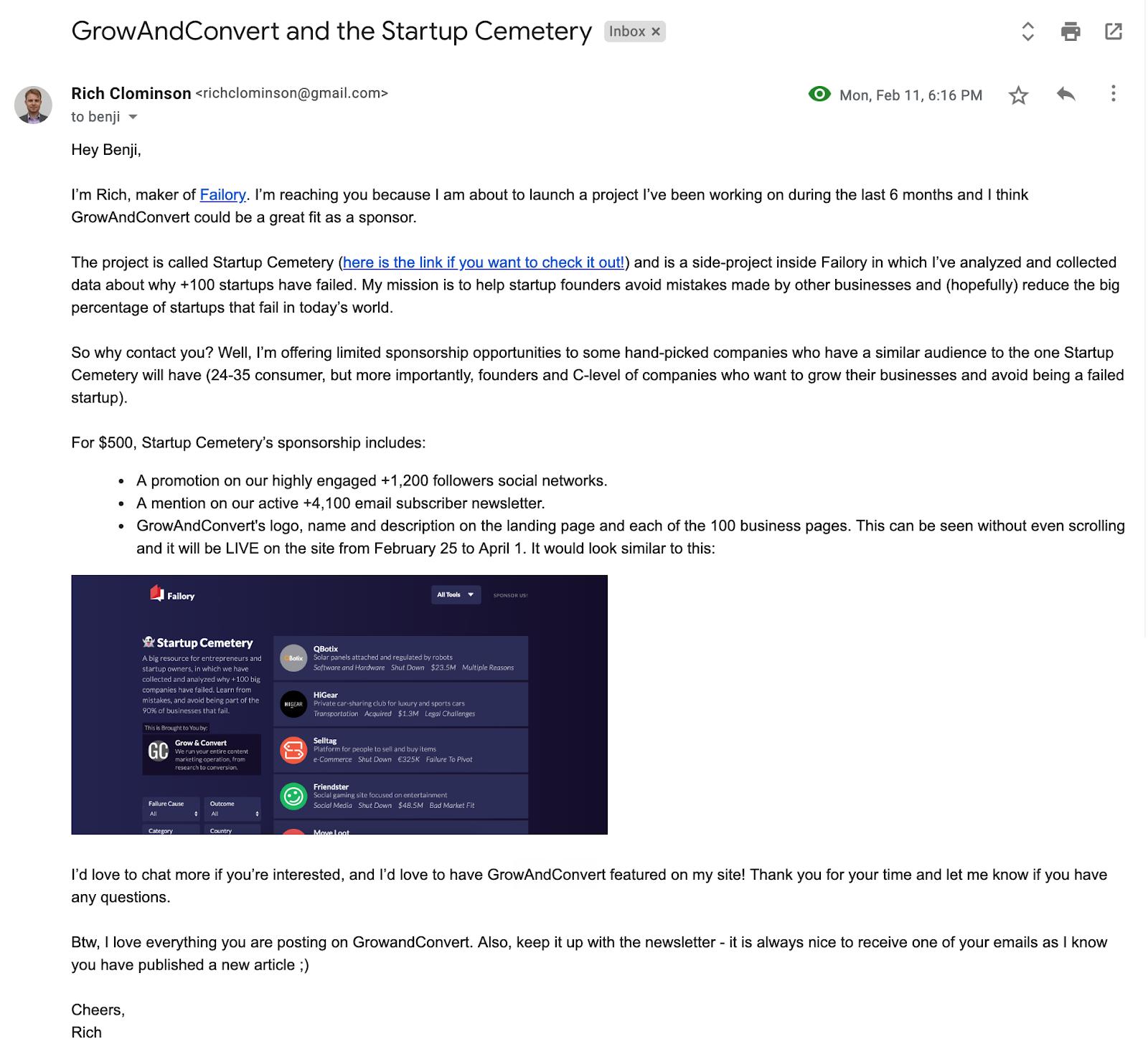 February 2019 - Sponsors Email
