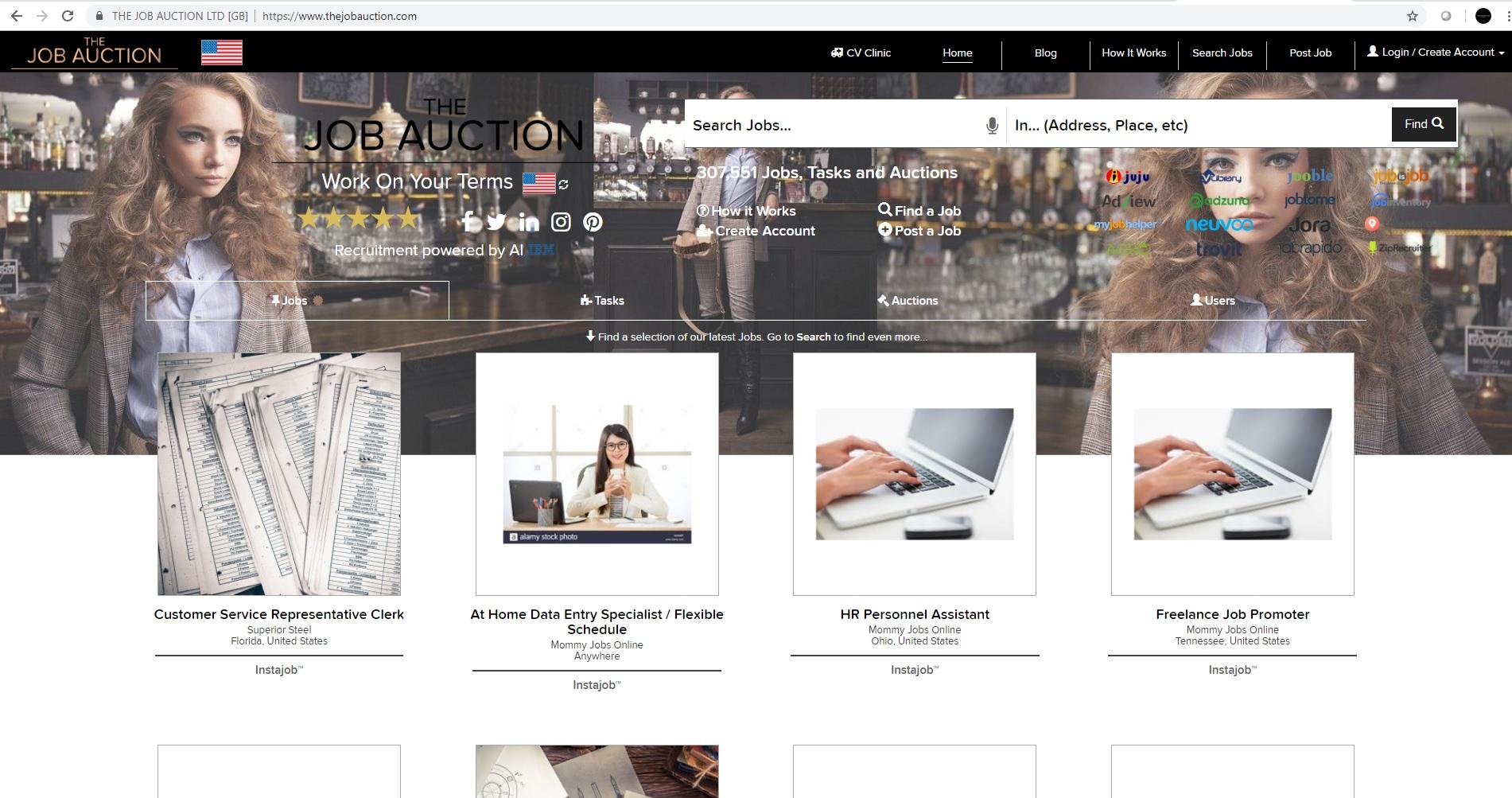 The Job Auction Website