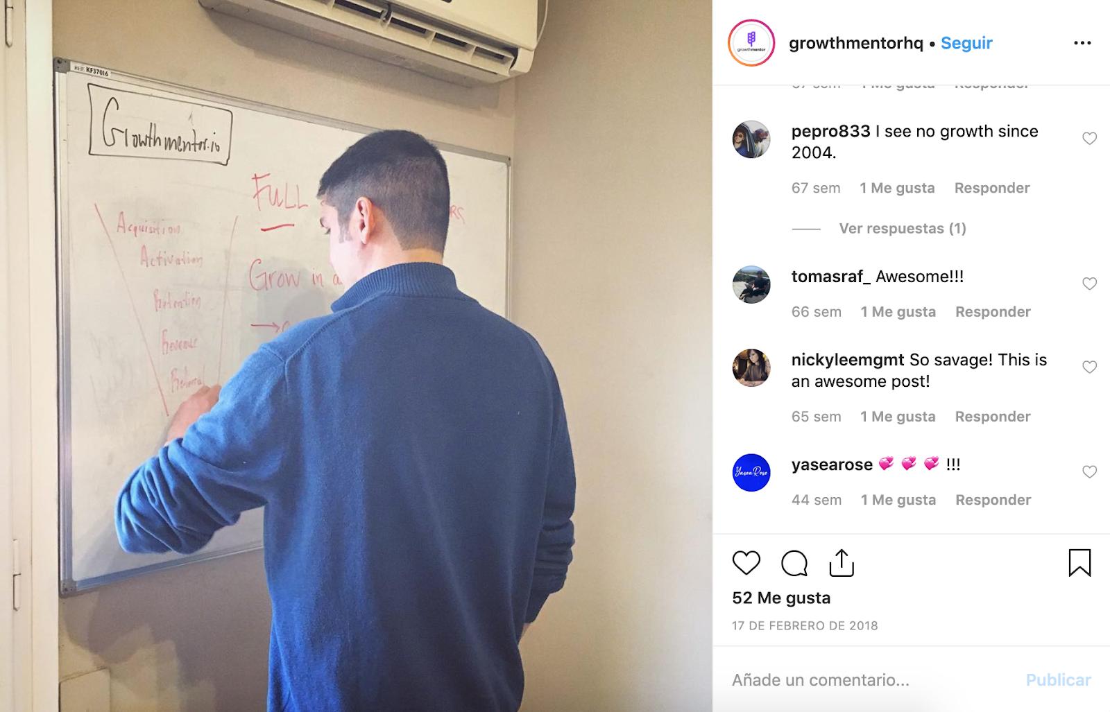 GrowthMentor's Instagram