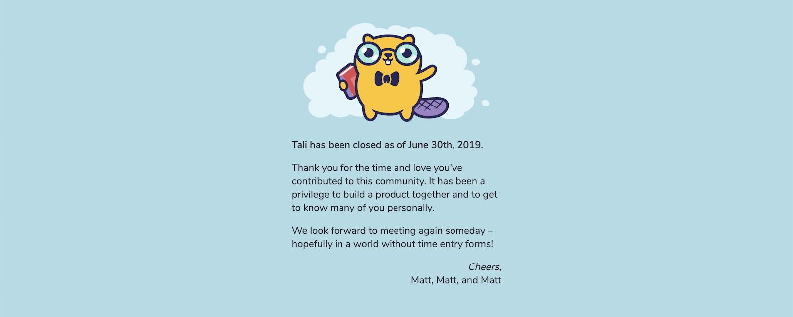 Tali's Goodbye Mesage