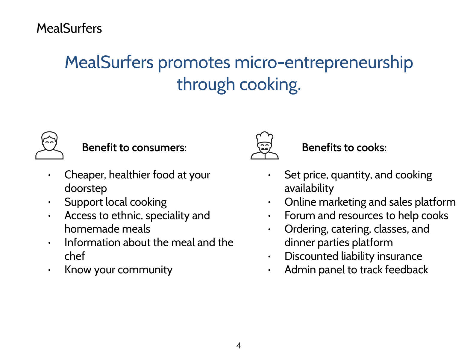 MealSurfer's Benefits