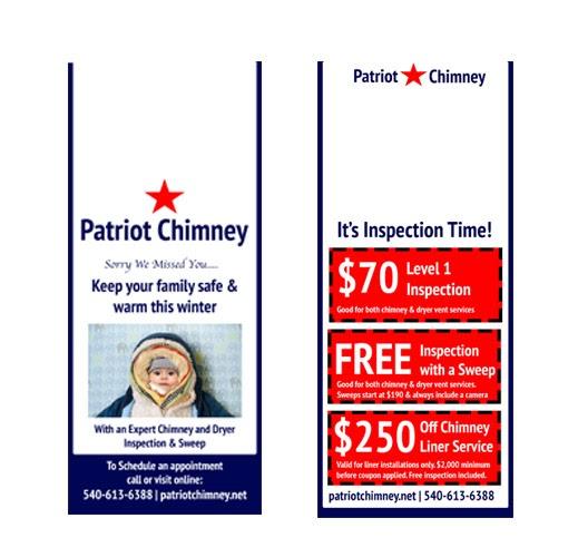 Patriot Chimnye's door hangers