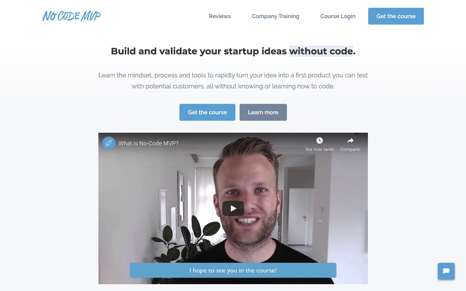 No Code MVP Website
