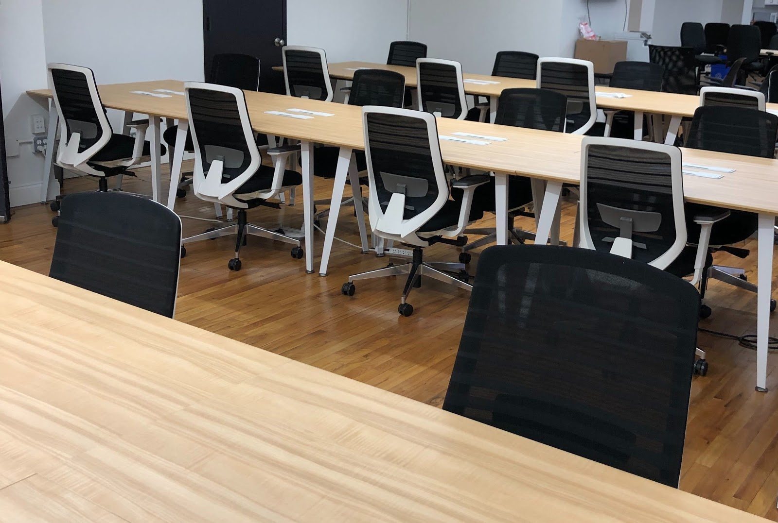 Branch's long desks