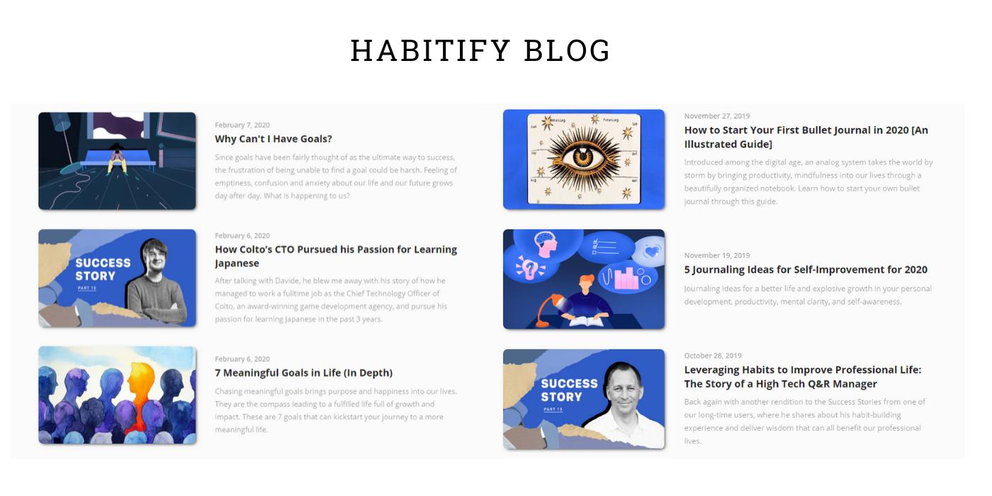 Habitify's blog