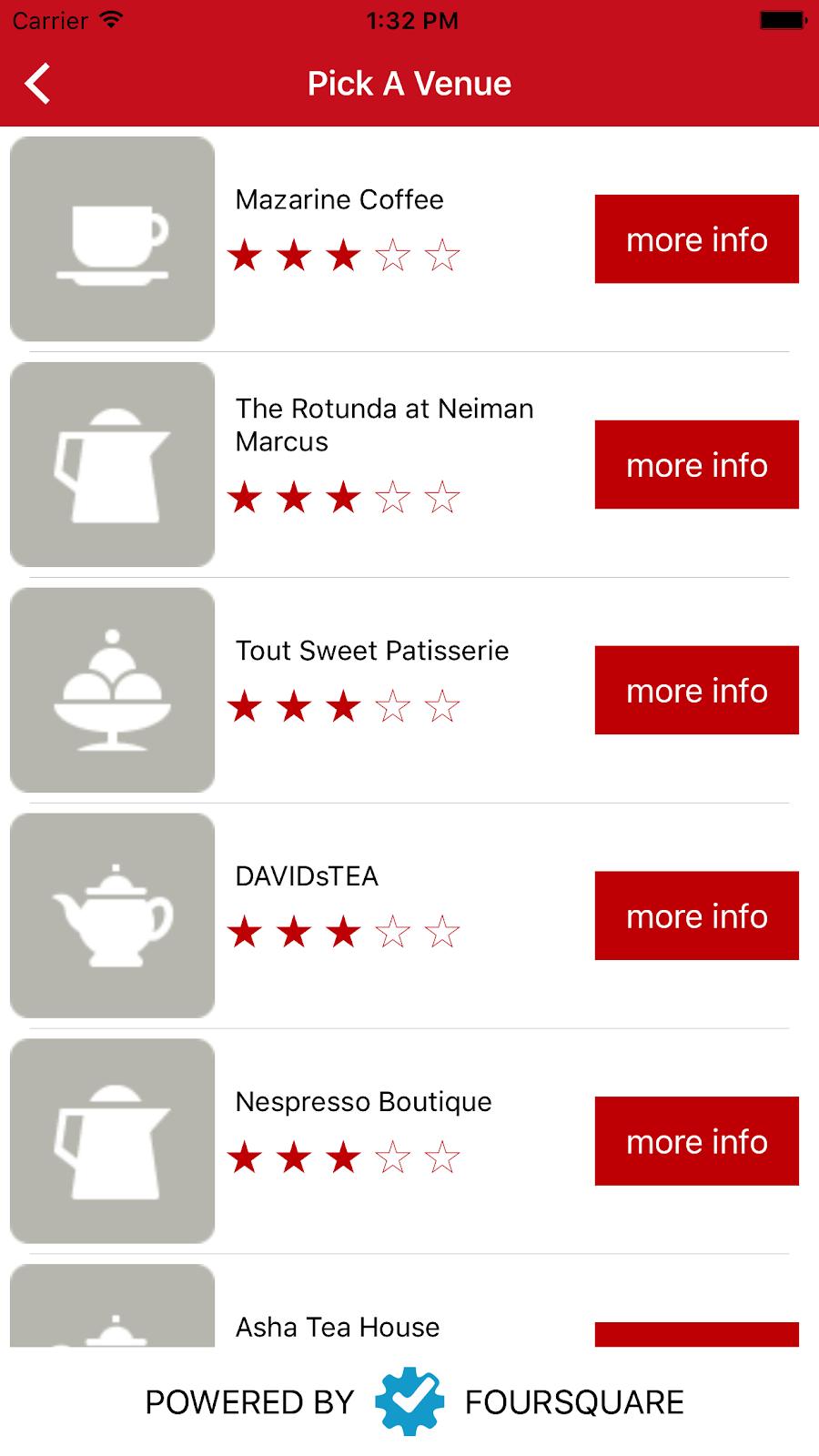 Cuddli's app venues