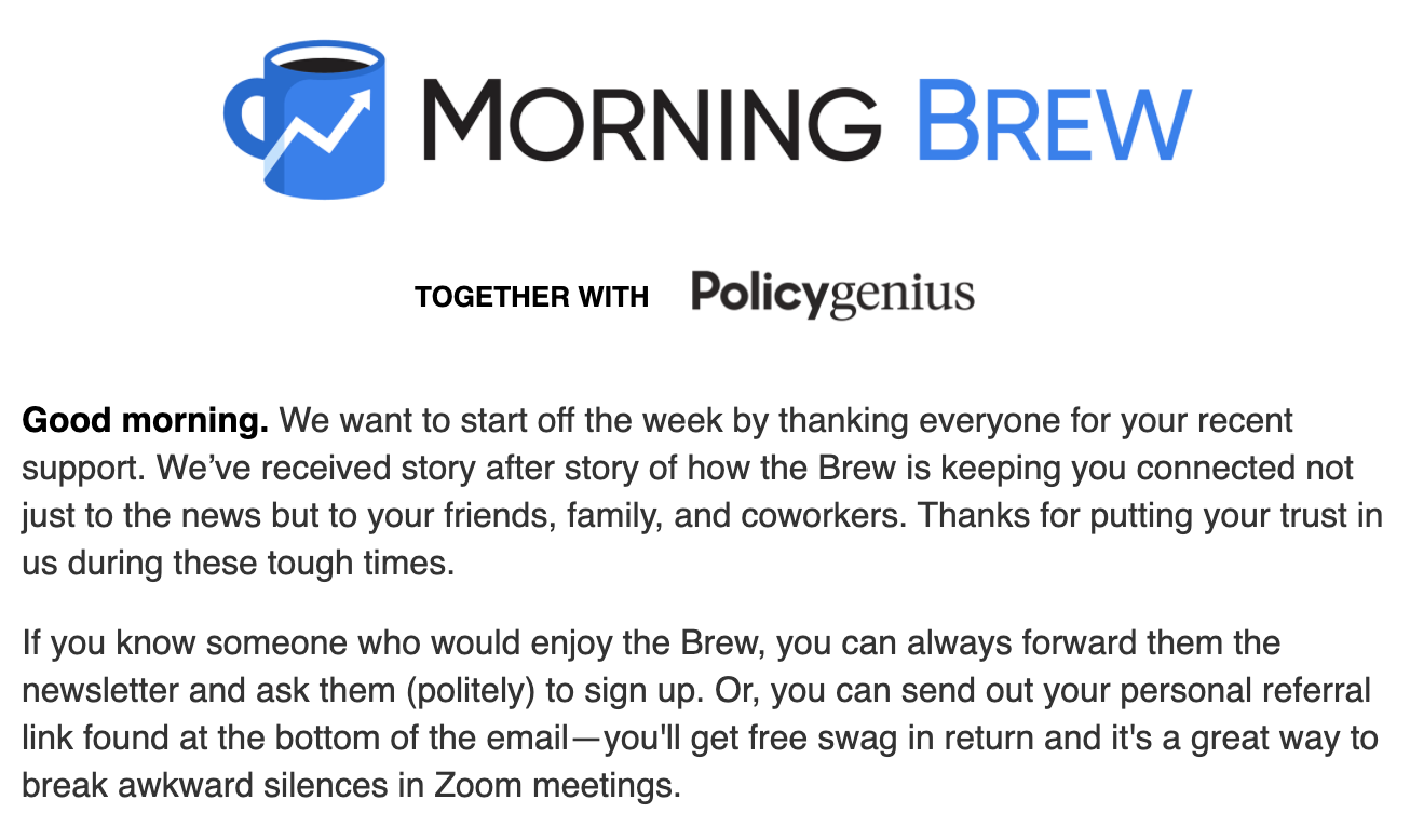 Morning Brew's introduction