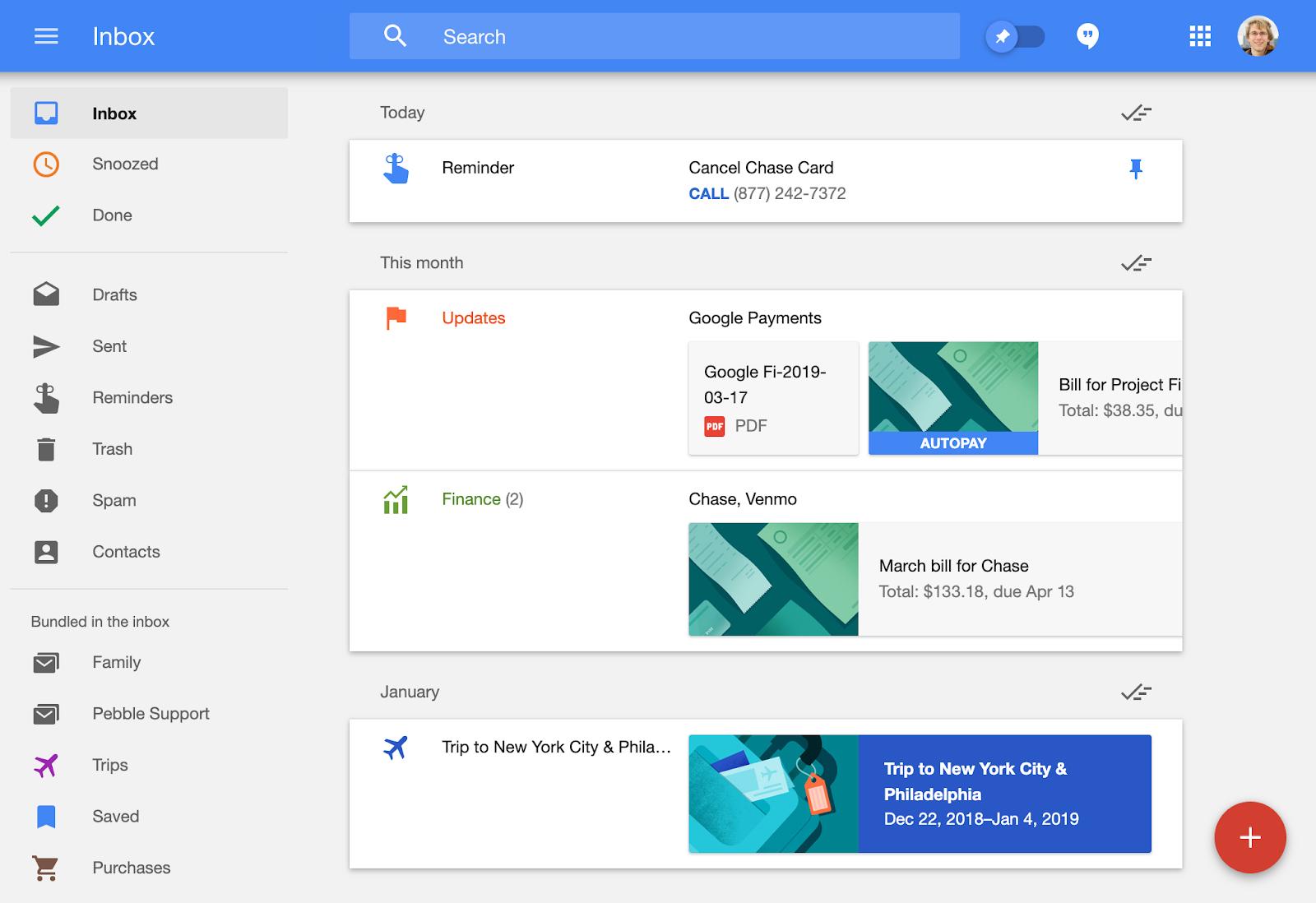 Google Inbox UX
