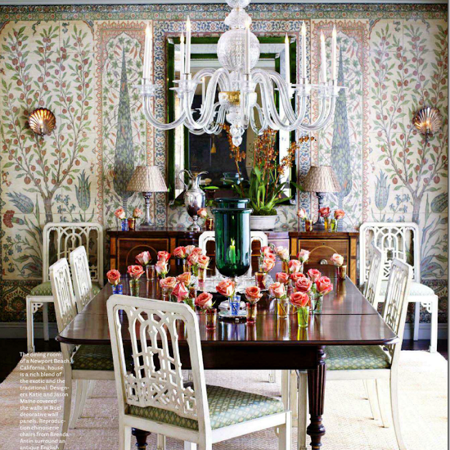 Another dining room, this one by designers Kate and Jason Maine.