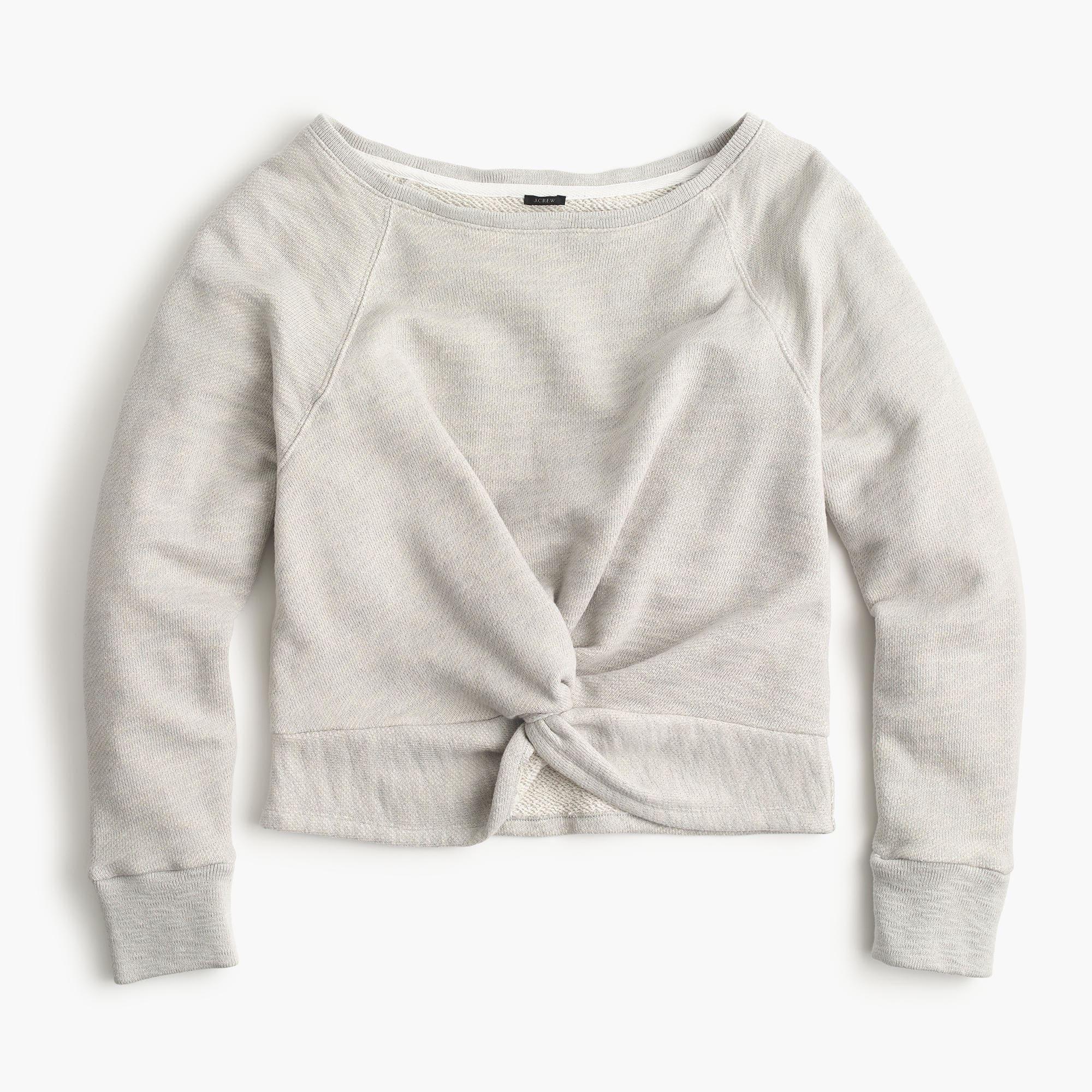 J.Crew twist Front Sweatshirt