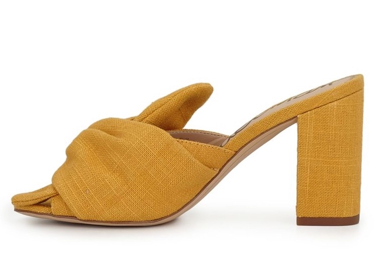 Sam Edelman Oda Yellow Block-heel Pump