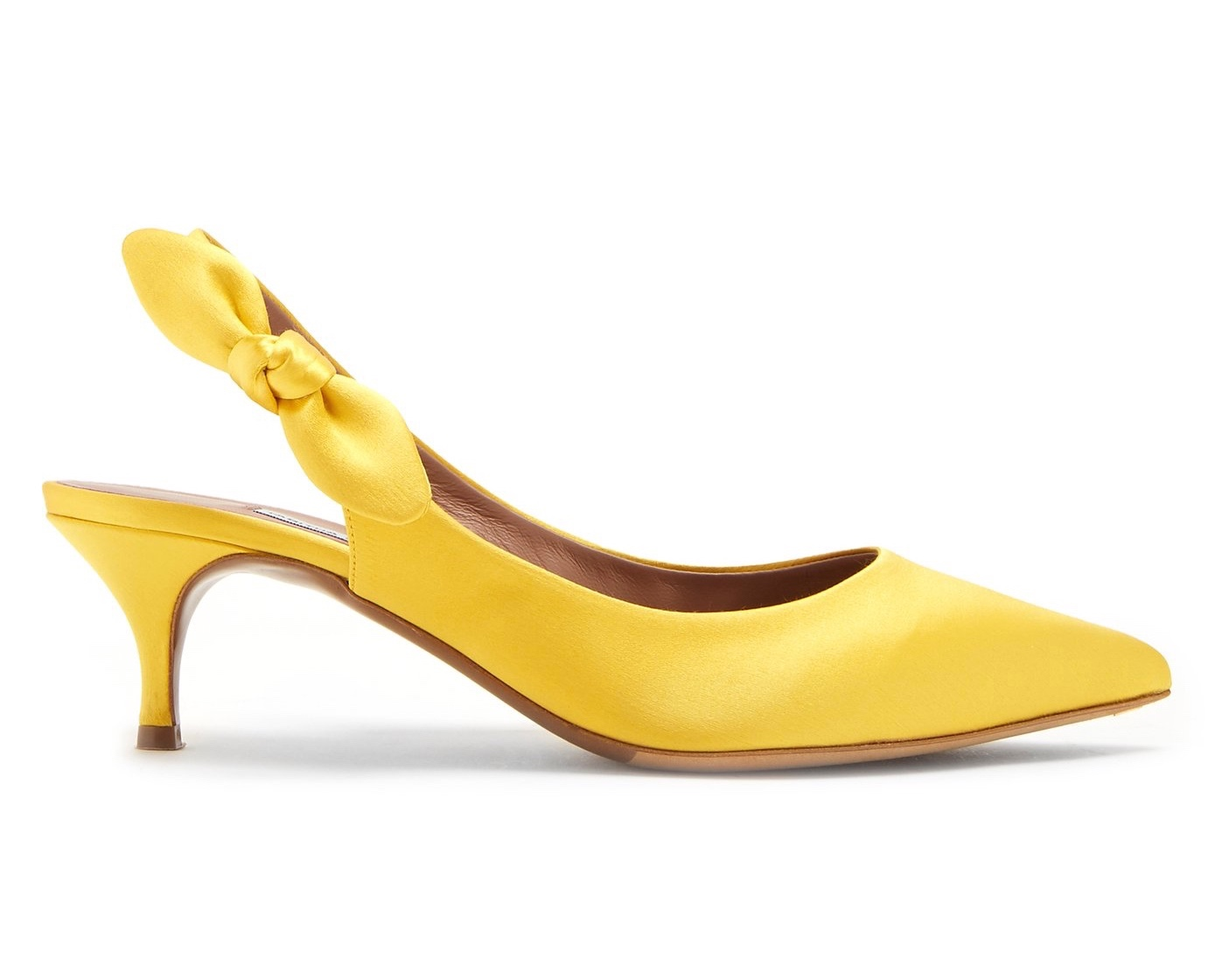 Tabitha Simmons Rise Yellow Slingback Pumps