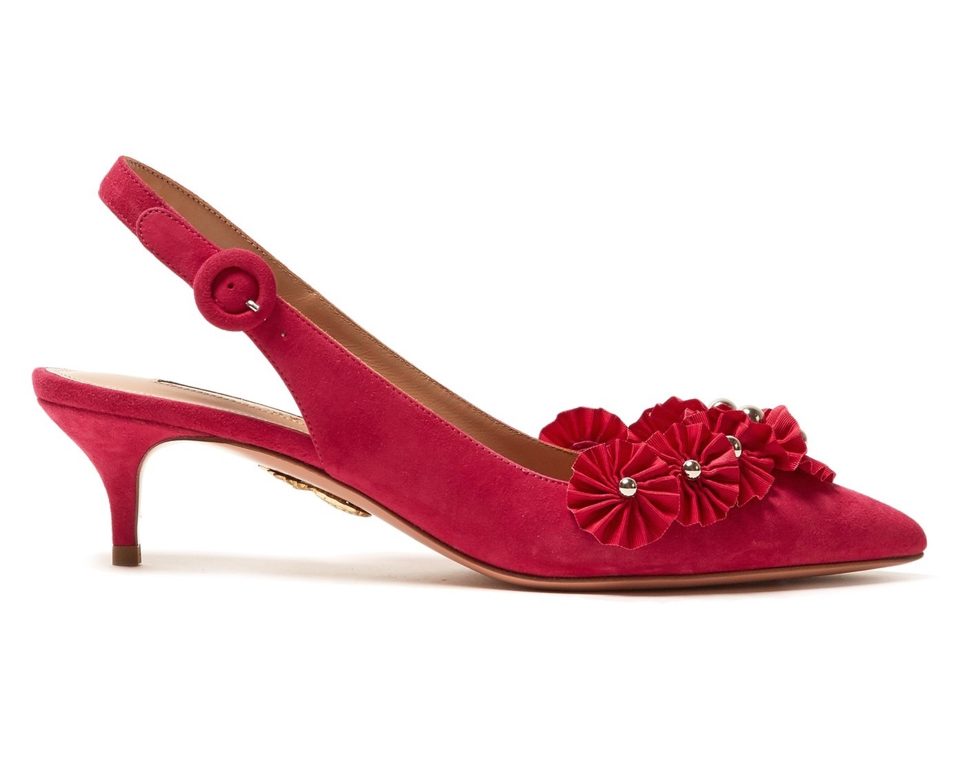 Aquazurra Exotic Embellished Suede Pumps