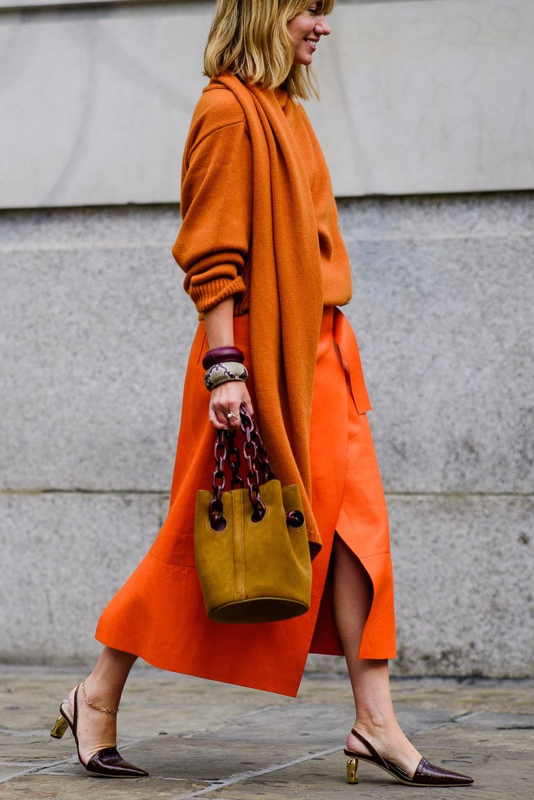 London Fashion Week Trademark suede bucket bag