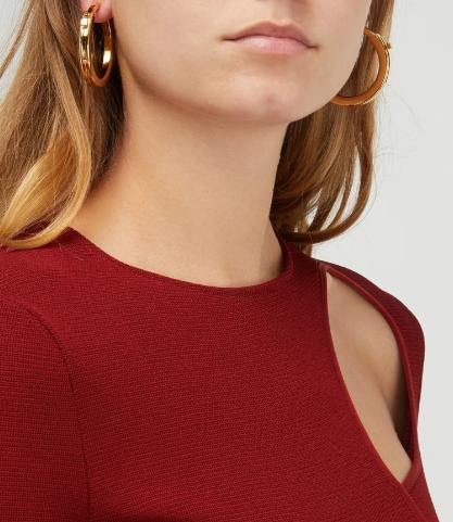 Loewe gold hoop earrings