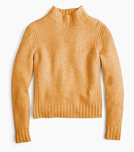 Jcrew mariold sweater supersoft mockneck