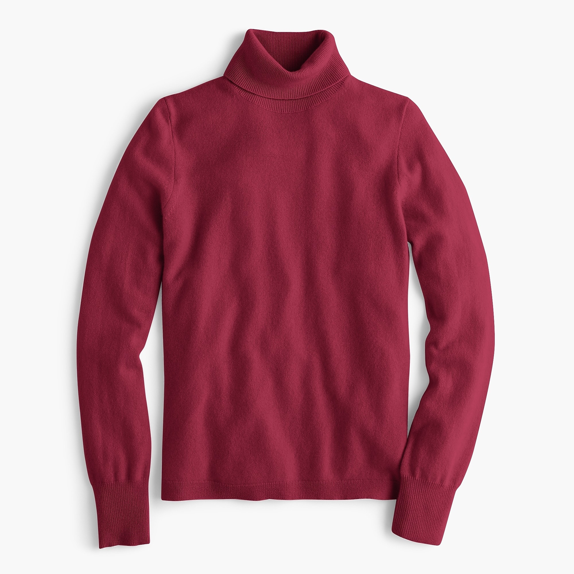Burgundy cashmere turtleneck sweater jcrew