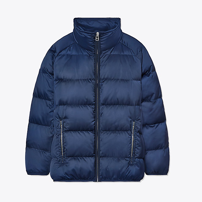 Tory Sport Performance Satin Down Jacket