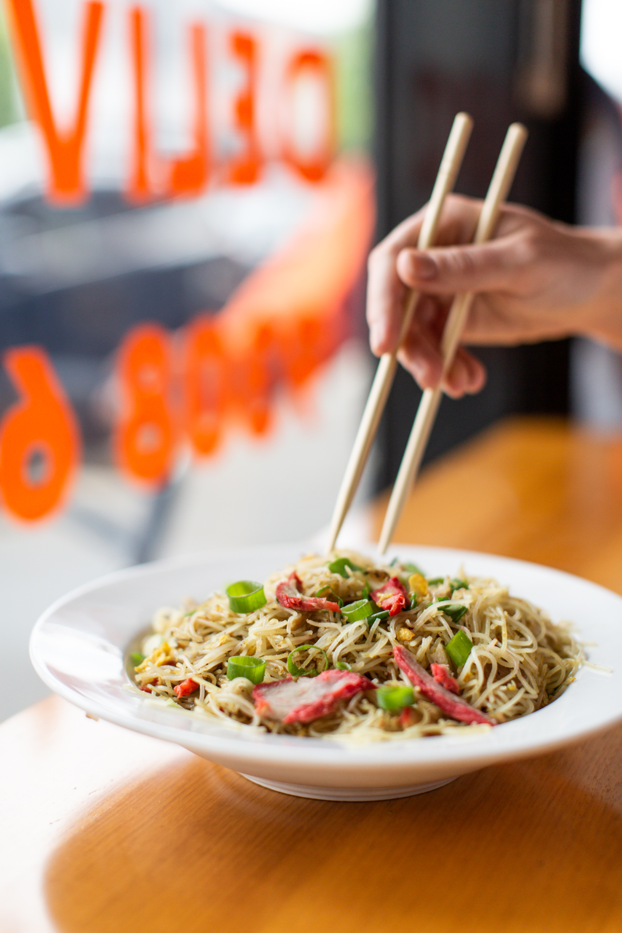 Kongs Chinese Bistro Singapore pork noodles