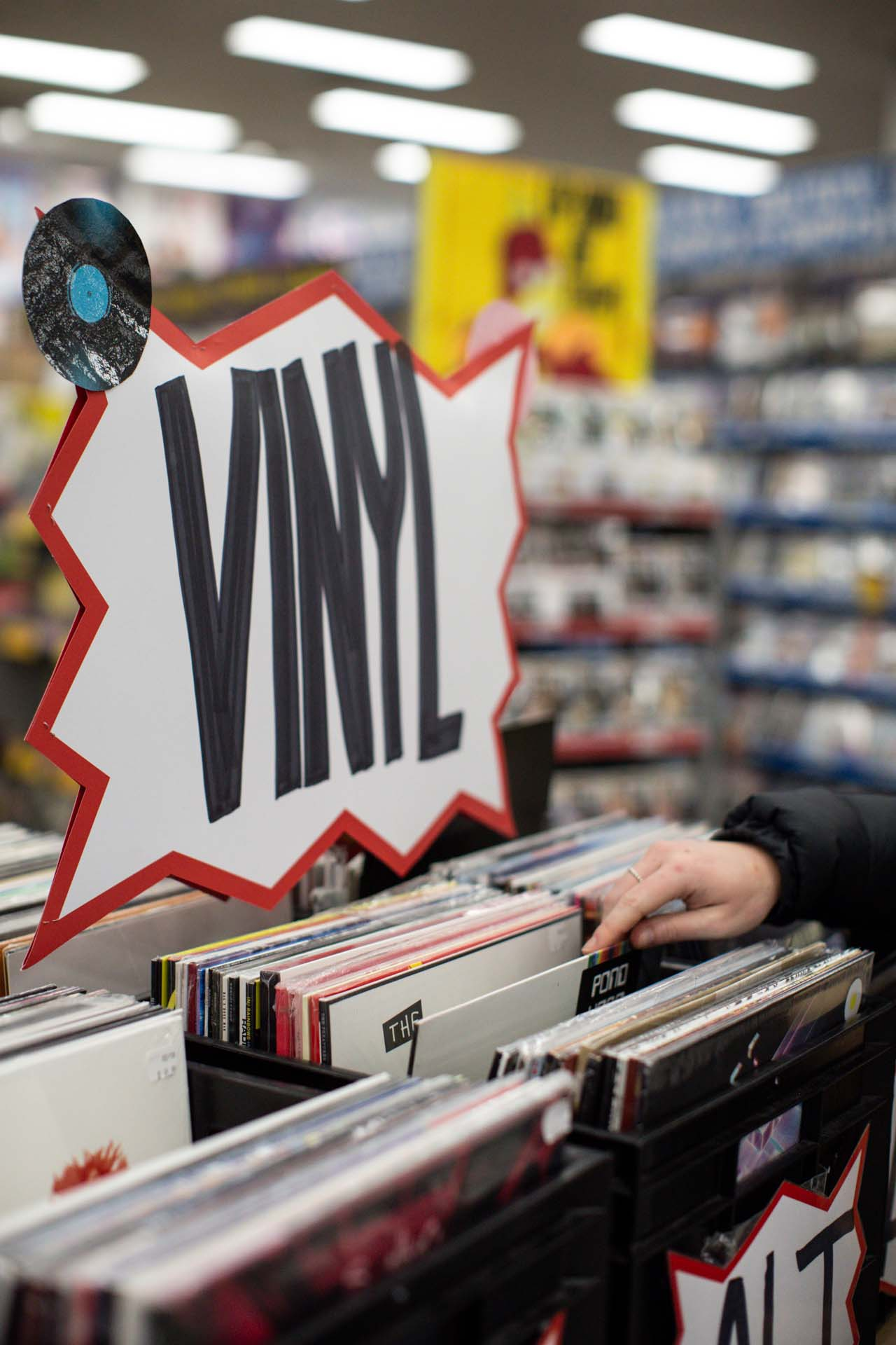 JB Hi Fi music vinyl shop