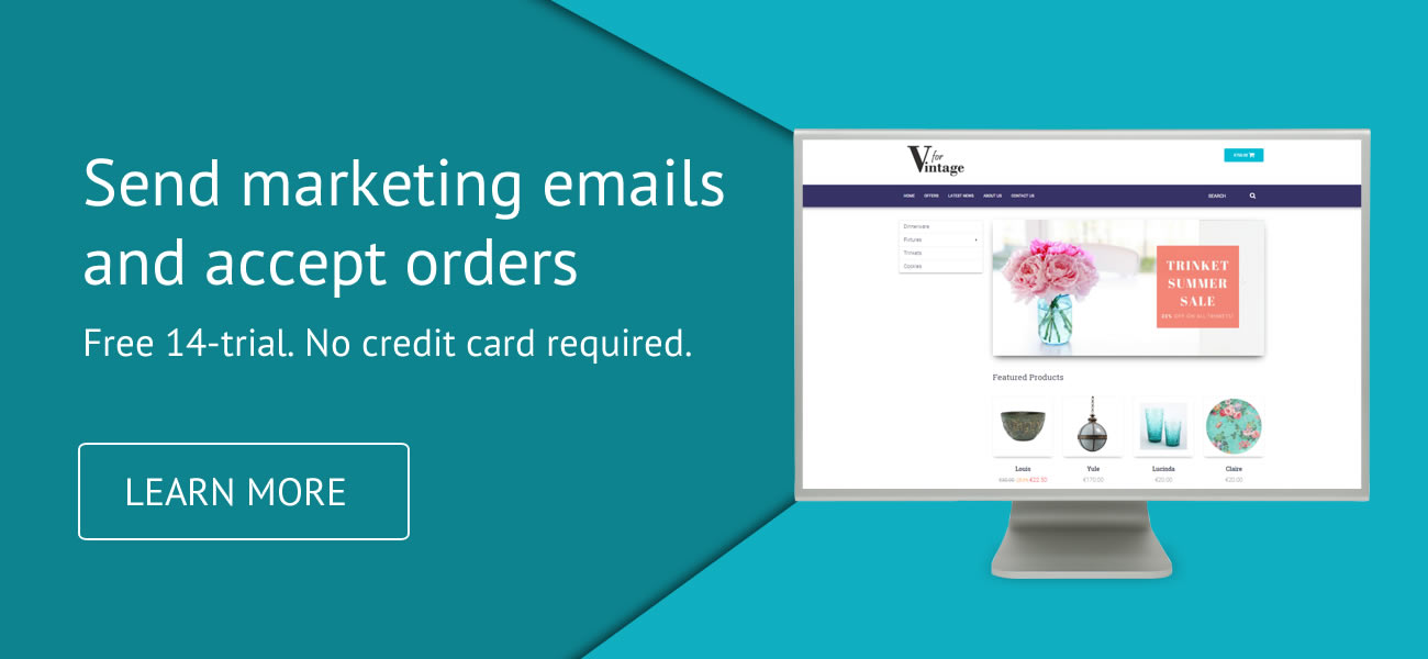 Send marketing emails and accept orders   B2B Wave