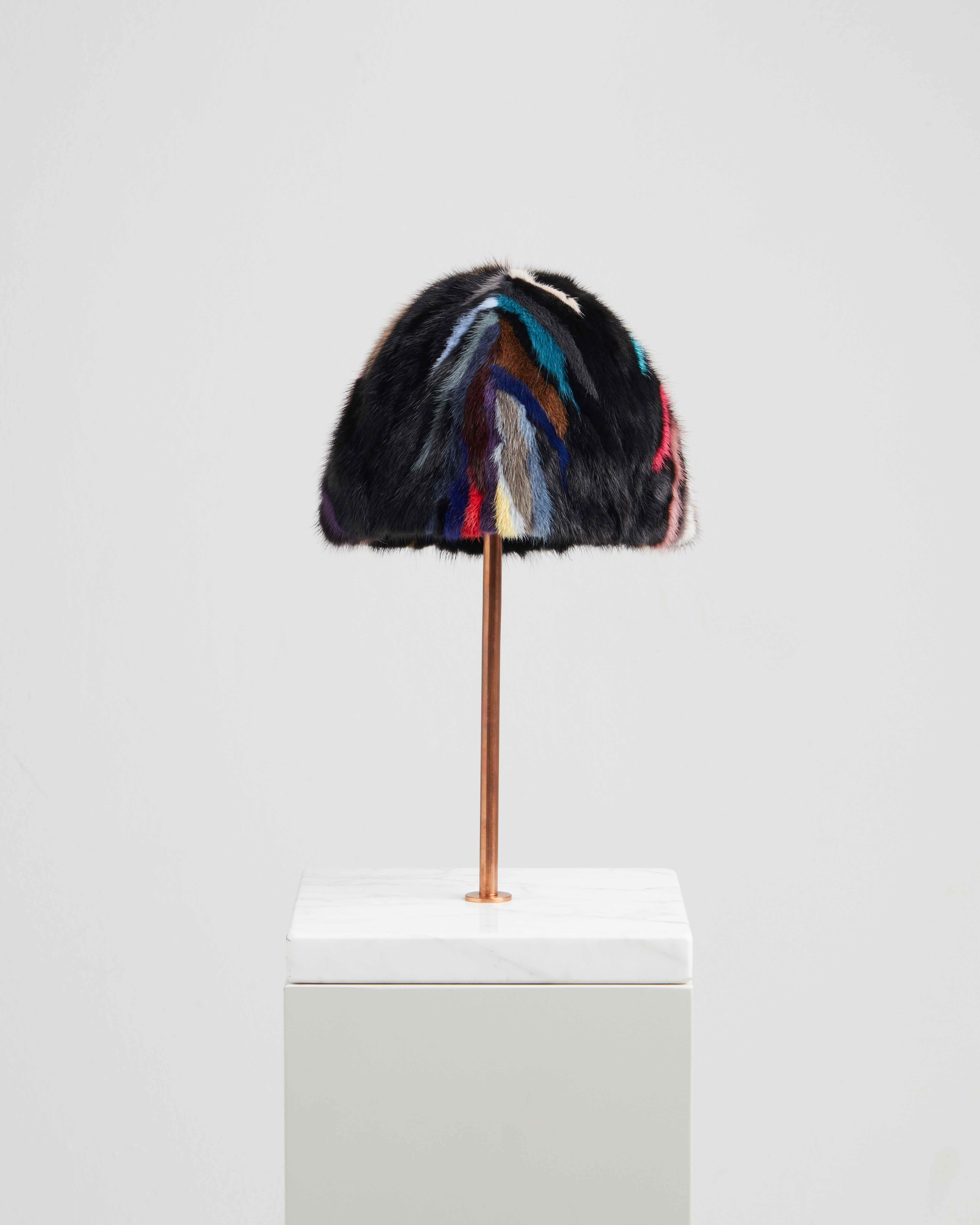 SIRIA HAT MULTICOLOR MINK FUR
