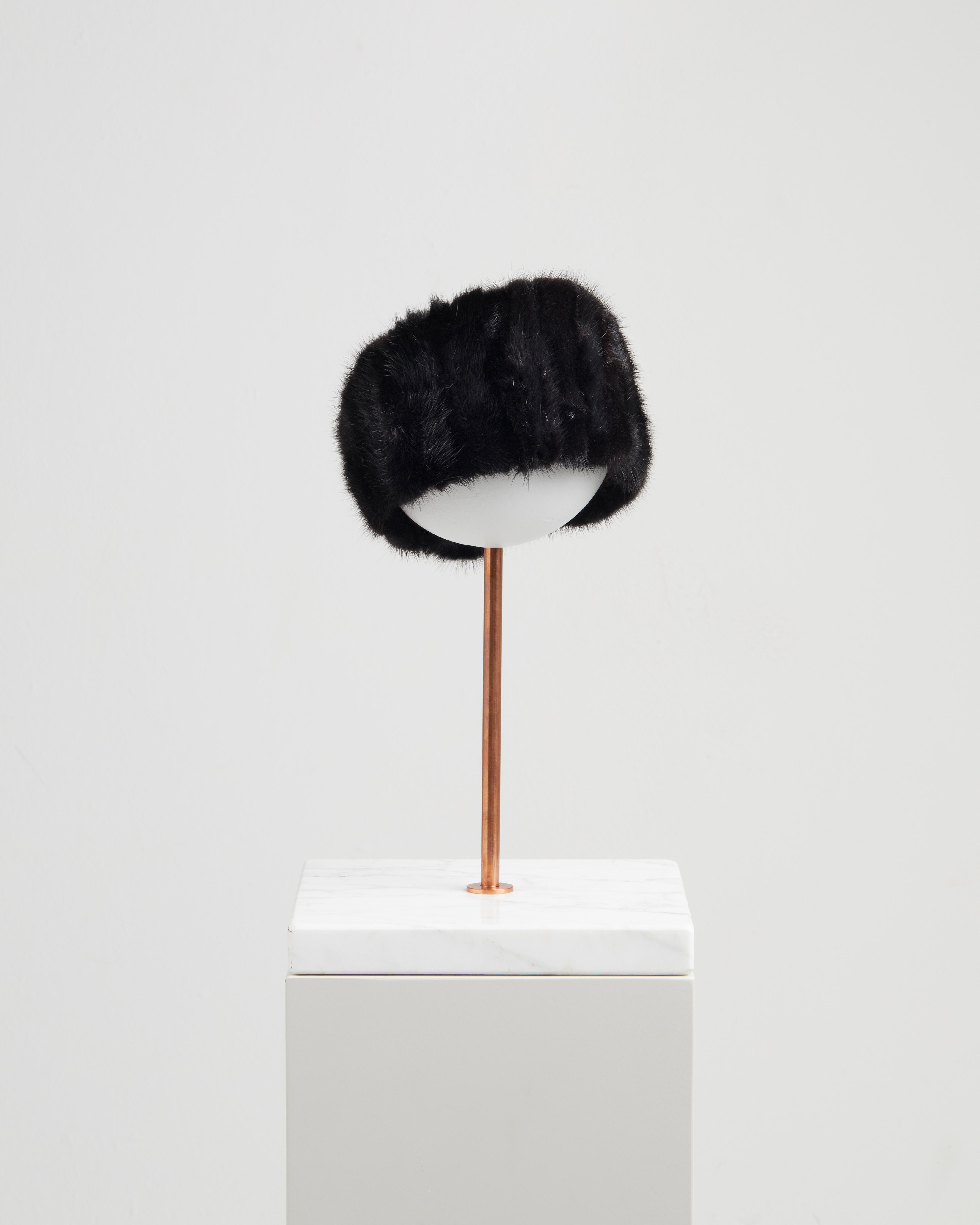 ASIA HEADBAND BLACK MINK FUR